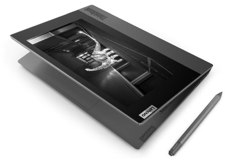 Ноутбук Lenovo ThinkBook Plus с задним E-ink дисплеем